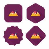 Mountain tourist flat icon with long shadow,eps10 — Vector de stock