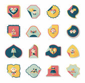 Wedding sticker flat design background set, eps10 — Stock Vector