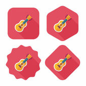 Guitar flat icon with long shadow — Stock Vector