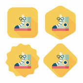 Vintage shoes flat icon with long shadow,eps10 — Cтоковый вектор