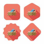 Icône plat boîte de crayon à grandissime, eps10 — Vecteur