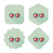 Sunglasses flat icon with long shadow — Stock Vector