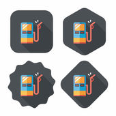 Fuel flat icon with long shadow — Stockvector
