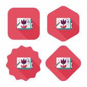 Buntstifte zeichnung flache icon mit langen schatten, eps10 — Stockvektor