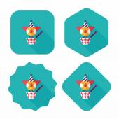 Jack in the box flat icon with long shadow,eps10 — Stock Vector