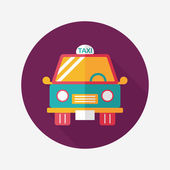 Transportation taxi flat icon with long shadow,eps10 — Stock Vector