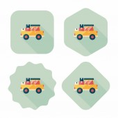 Transportation truck flat icon with long shadow,eps10 — Stock Vector