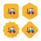 Transportation moving truck flat icon with long shadow,eps10 — Stock Vector