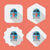 Transport subway flat ikonen med långa skugga, eps10 — Stockvektor