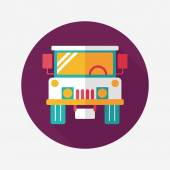 Transportation hammer flat icon with long shadow,eps10 — Stock Vector