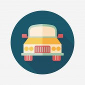 Transportation car flat icon with long shadow,eps10 — Stockvector