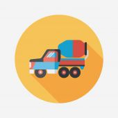 Transportation truck flat icon with long shadow,eps10 — Vettoriale Stock