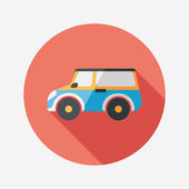 Transportation Sports Utility Vehicle flat icon with long shadow — Stock Vector