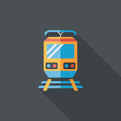 Transportation train flat icon with long shadow,eps10 — Stock Vector