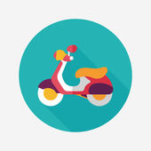 Transportation scooter flat icon with long shadow,eps10 — Stock Vector