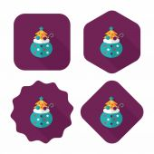 Santa  gifts flat icon wtih long shadow,eps10 — 图库矢量图片