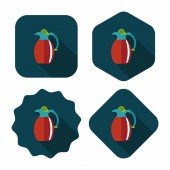 Coffee kettle flat icon with long shadow,eps10 — Wektor stockowy