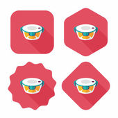 Kitchenware preserving container flat icon with long shadow,eps1 — Wektor stockowy