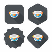 Kitchenware preserving container flat icon with long shadow,eps1 — 图库矢量图片