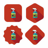 Kitchenware bottle soap flat icon with long shadow,eps10 — Stock vektor