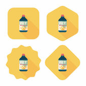 Pet shampoo flat icon with long shadow,eps10 — Stock Vector