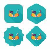 Shopping sale underwear bra flat icon with long shadow,eps10 — Wektor stockowy