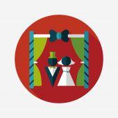 Wedding ceremony flat icon with long shadow,eps10 — Stock vektor