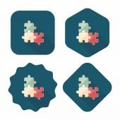 Puzzle ploché ikony s dlouhý stín, eps 10 — Stock vektor