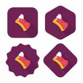 Kitchenware scouring pads flat icon with long shadow,eps10 — Stock Vector