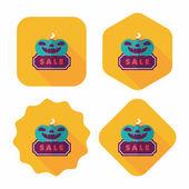 Halloween verkoop platte pictogram met lange schaduw, eps10 — Stockvector