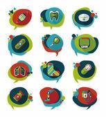 Coffee bubble speech flat banner design flat background set, eps — Wektor stockowy