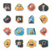 Baby sticker banner design flat background set, eps10 — Stock Vector