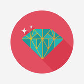 Propose diamond flat icon with long shadow,eps10 — Vector de stock