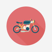 Transportation motorcycle flat icon with long shadow,eps10 — Stok Vektör
