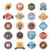 Hospital badge banner design flat background set, eps10 — Stok Vektör