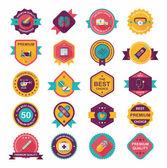 Hospital badge banner design flat background set, eps10 — ストックベクタ