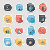 Hospital bubble speech banner design flat background set, eps10 — Stok Vektör
