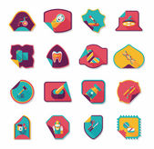 Hospital sticker flat banner background set, eps10 — Stockvector