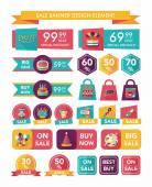 Birthday sale banner design flat background set, eps10 — Stock Vector