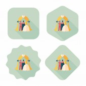 Wedding ceremony flat icon with long shadow,eps10 — Stock Vector
