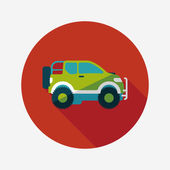 Transportation Sports Utility Vehicle flat icon with long shadow — Vetorial Stock