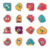 Toy sticker flat banner background set, eps10 — Stock Vector