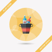 Ice bottle flat icon with long shadow,eps10 — Stock Vector