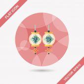 Kinesiska nyåret flat ikonen med långa skugga, eps10, kinesiska festi — Stockvektor