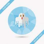 Ghost flat icon with long shadow,eps10 — Vector de stock
