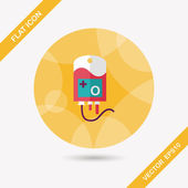 IV bag flat icon with long shadow, eps10 — Vector de stock