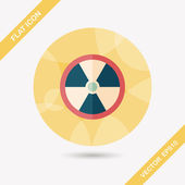 Radiation flat icon with long shadow,eps10 — Stock Vector