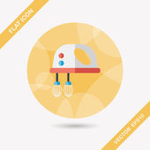 Kitchenware electronic beater flat icon with long shadow,eps10 — Vector de stock