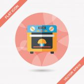 Kitchenware oven flat icon with long shadow,eps10 — Vector de stock