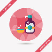 Kitchenware dish soap flat icon with long shadow,eps10 — Vector de stock